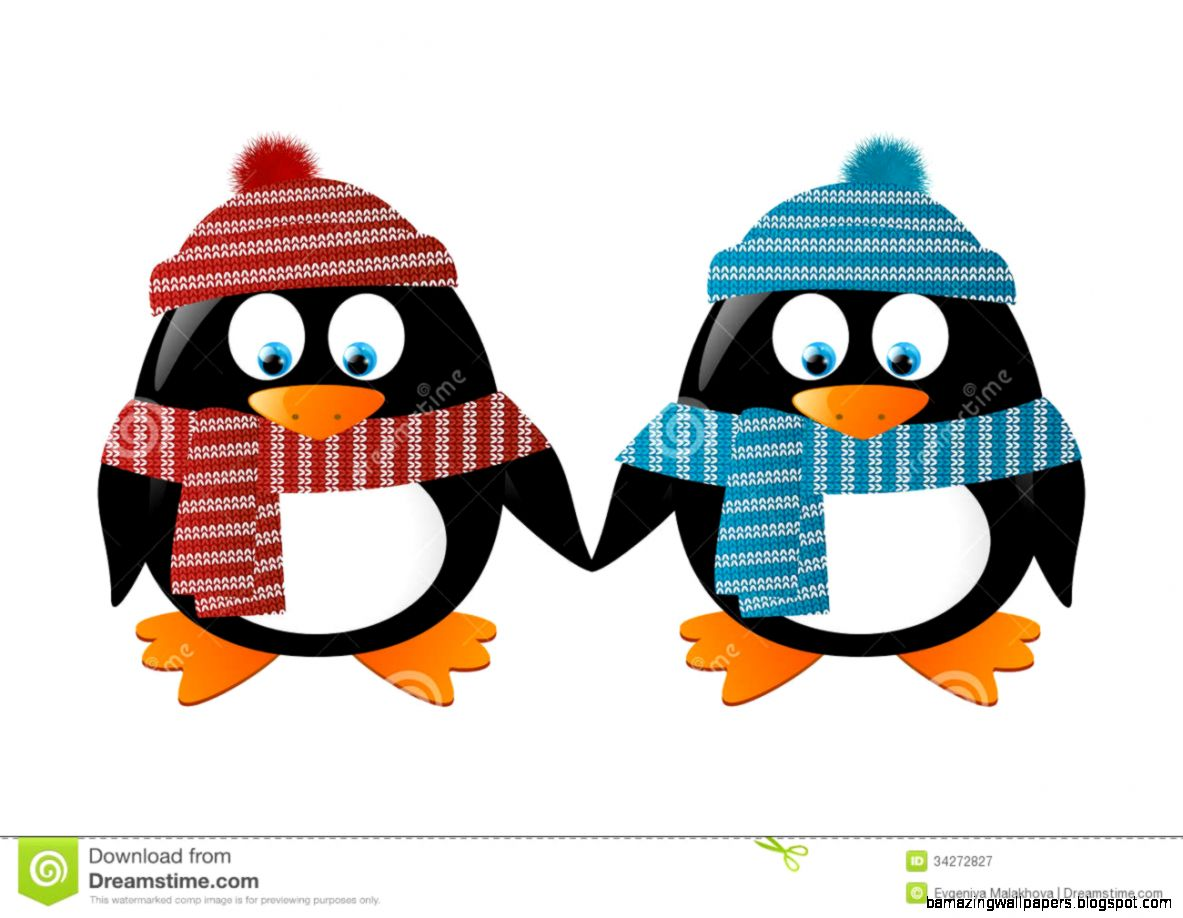 Winter Penguin Clipart Black And White  Clipart Panda   Free