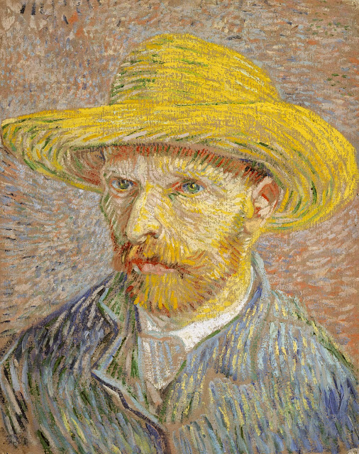 "Picture of ""Self Portrait with a Straw Hat"" by Vincent van Gogh, 1887"