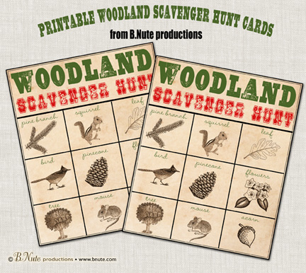 Woodland Scavenger Hunt Game
