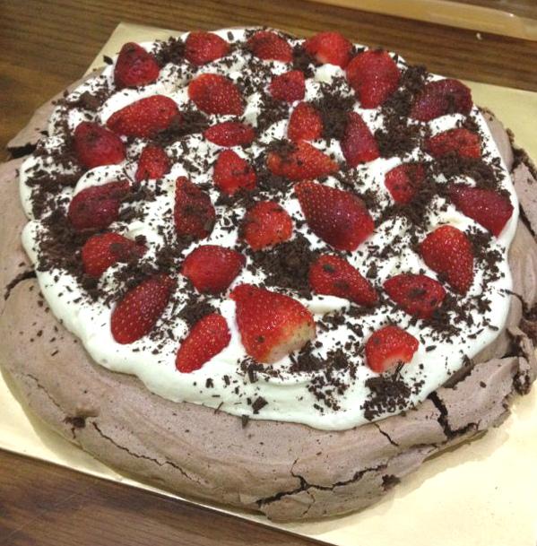 My Recipes Blog: Double Strawberry Chocolate Pavlova Recipe
