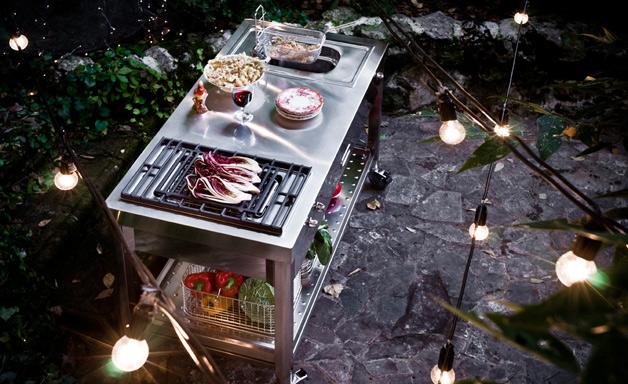 La casa rosso papavero libera installazione anche da esterni for Cucine da esterno ikea