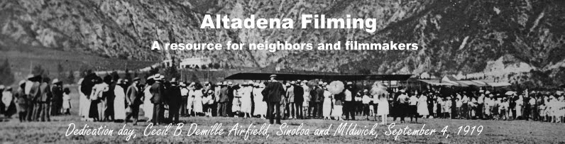Altadena Filming A resource for filming in Altadena.