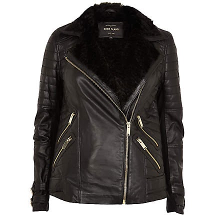 fur lined biker jacket