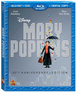 Review: Disney Mary Poppins 50th Anniversary Edition + Bonus Clips and Film Stills