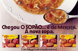 propaganda Sopão Maggi - 1978. os anos 70; propaganda na década de 70; Brazil in the 70s, história anos 70; Oswaldo Hernandez;
