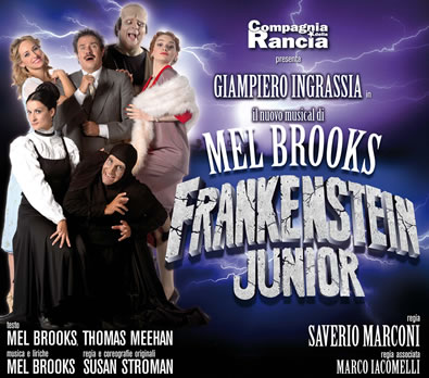 Il musical Frankestein Junior in Italia
