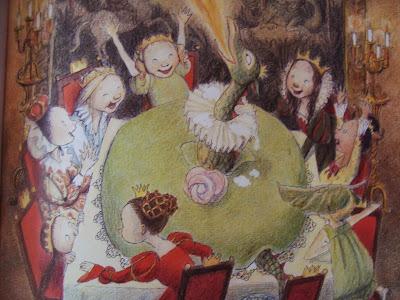 książka o księżniczkach i smokach, obrazki, recenzja