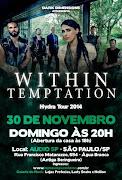 Eventos apoiados:                               Within Temptation