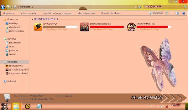 Kusaribe Hakaze (Zetsuen no Tempest) – Win7 Theme 3