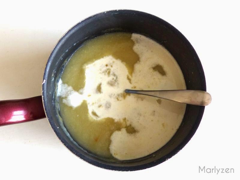 Légumes mixés + crème fraîche