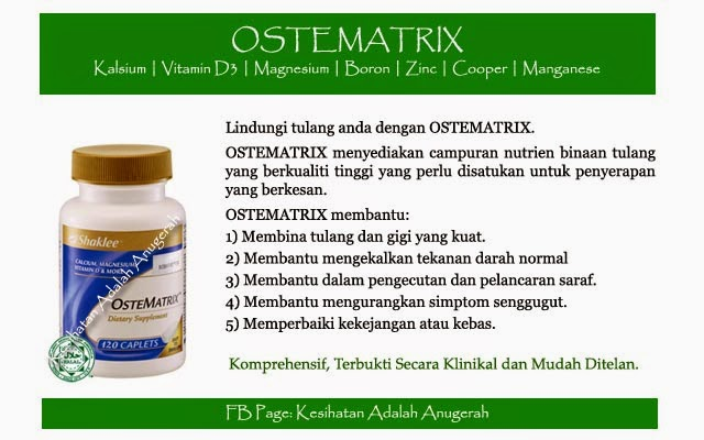 OsteMatrix membantu mengurangkan masalah kebas kaki dan tangan serta kejang