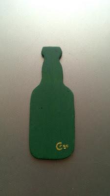 Trasera del imán botella de sidra antes de ponerle el imán