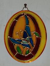 Pillangó - üvegfestés