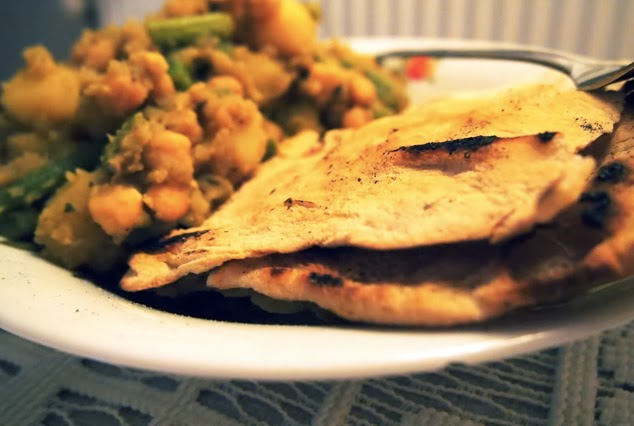 healthy homemade vegan roti