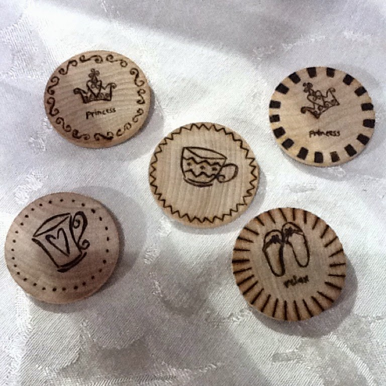 Miscellaneous wood burned items