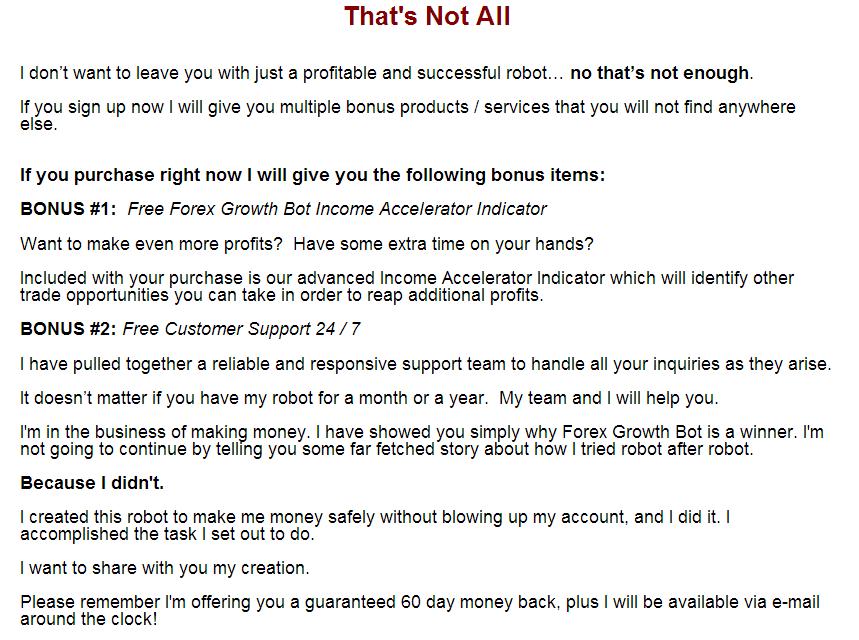 Forex growth bot latest version
