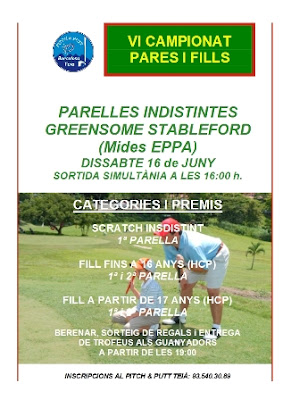 Campionat Pares i Fills Pitch & Putt Teia