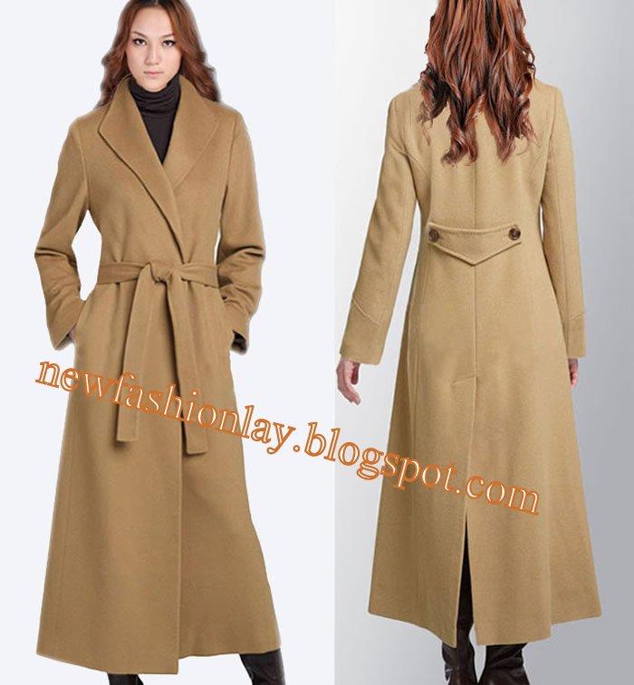 New Fashion Lay Latest Fashion Trend: Women Winter Wool long Coat 2013