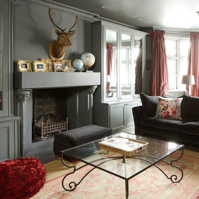 Estupendas salas con chimenea salas con estilo - Chimeneas con estilo ...