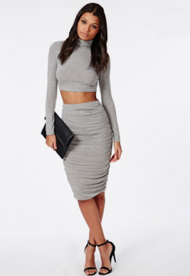 https://www.missguidedau.com/ruched-seam-midi-skirt-grey