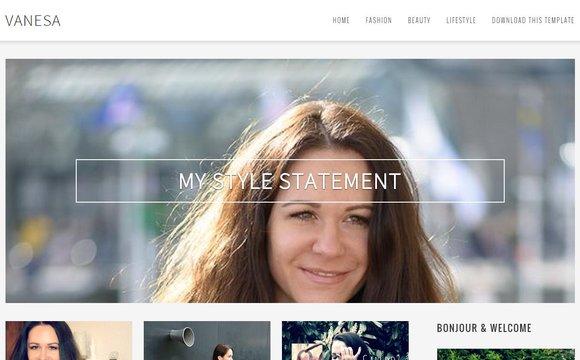 Vanesa Responsive Blogger Template