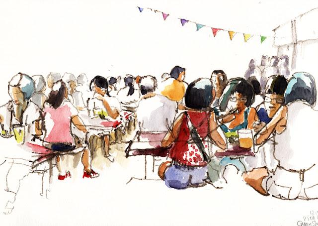 Carnet de voyage à Singapour, Delphine Priollaud-Stoclet, USk Symposium