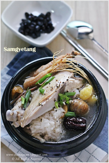 Samgyetang - Ginseng Chicken Soup with Rice and Chestnut Stuffings 5 | Korean Recipes
