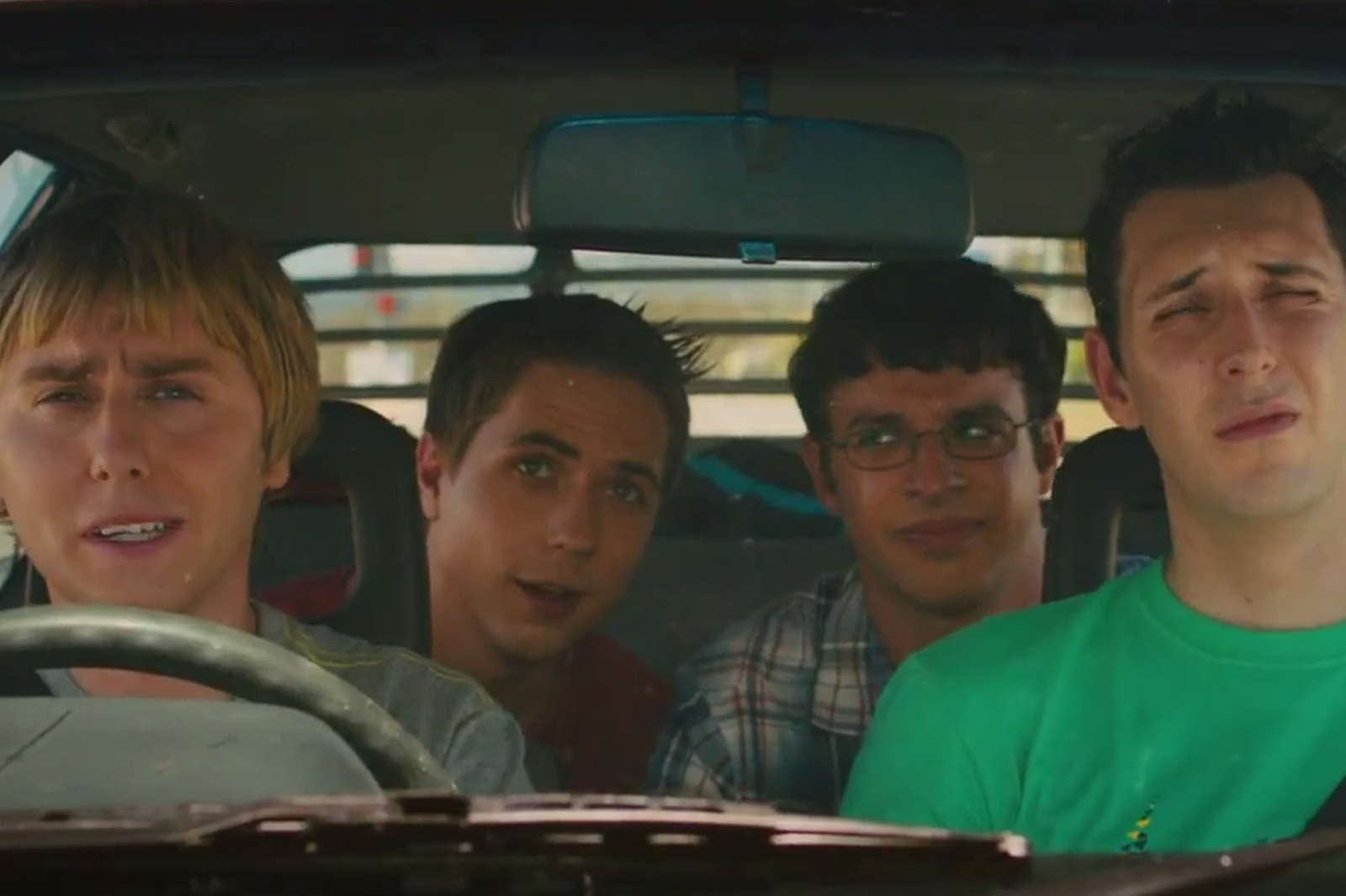 The Inbetweeners 2 in Jay's car australia