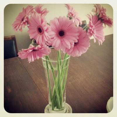 Vase of Pink Gerbera Daisies - Photo by Taste As You Go