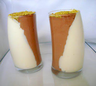 Duo de mousse au deux chocolats