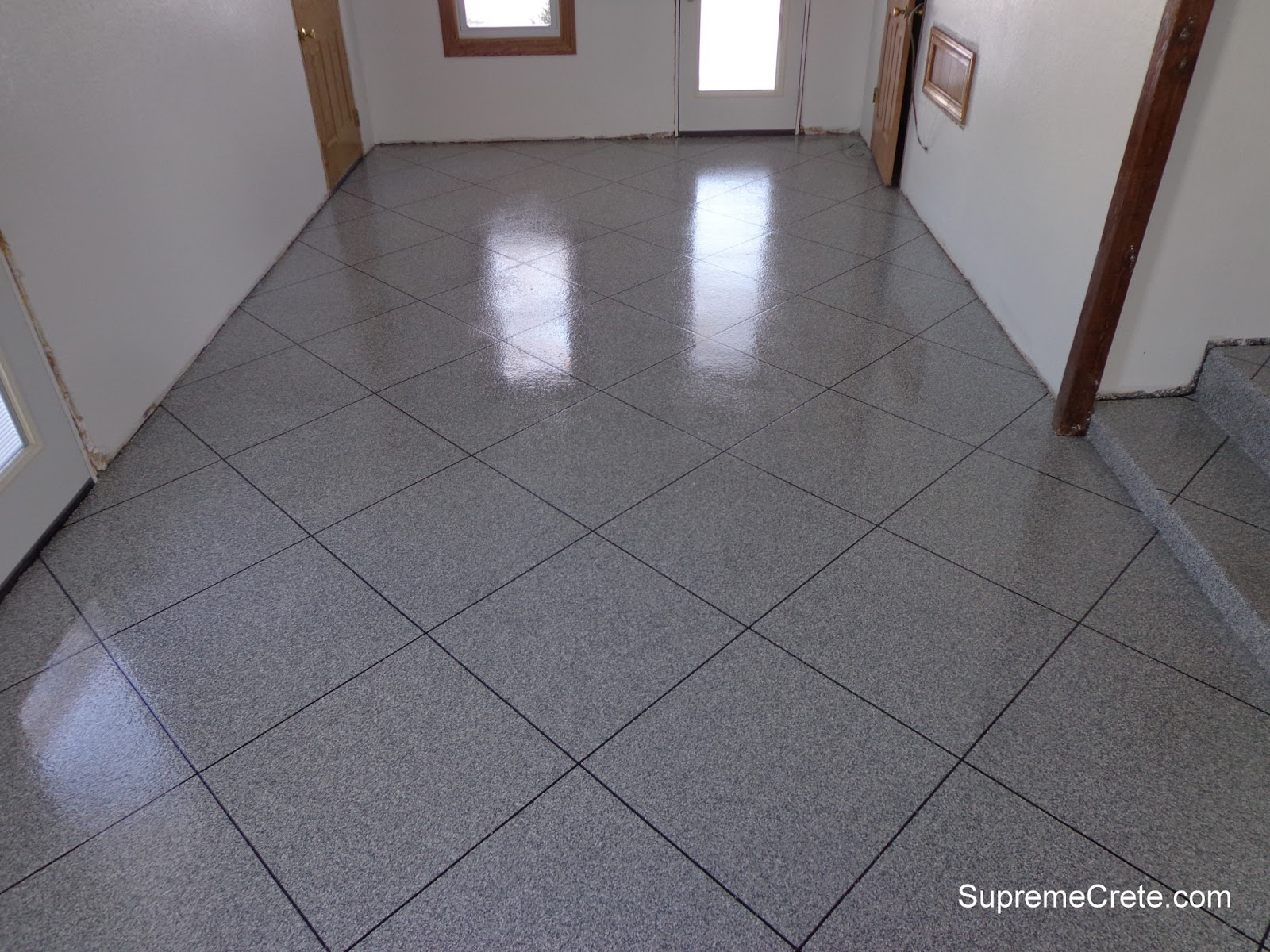Decorative concrete contractors epoxy granite tile for Epoxy flooring