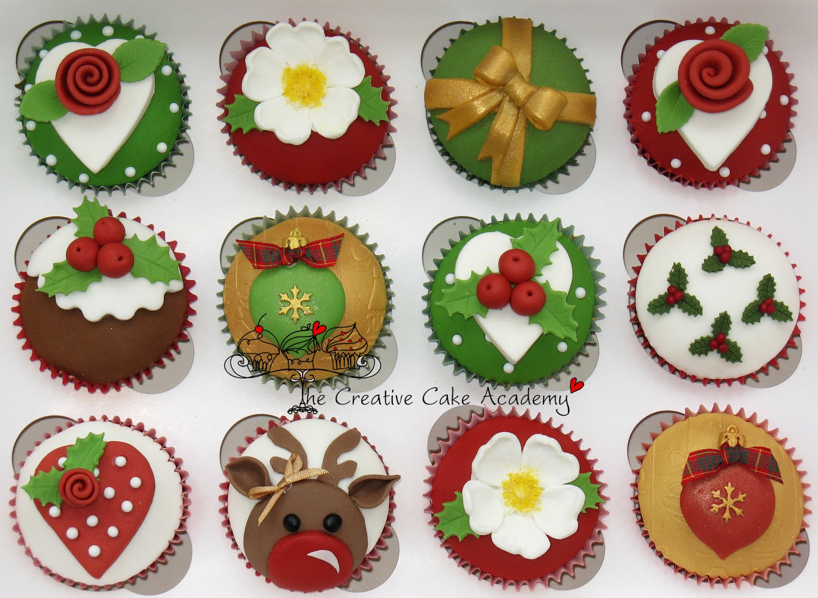 The Creative Cake Academy: CHRISTMAS CUPCAKES - NEW DESIGN ...