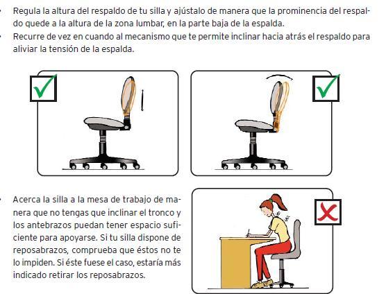 ergonoma en oficinas postura correcta