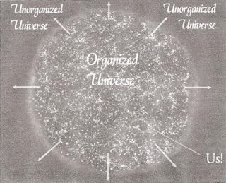 Unoranized universe