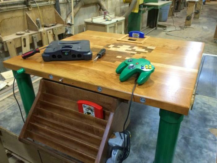 oyun masası, oyun masası yapımı, nintendo oyun masası