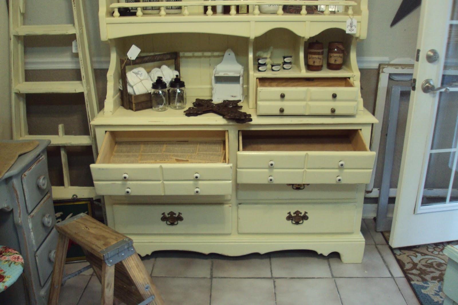 vintage dresser being refurbished