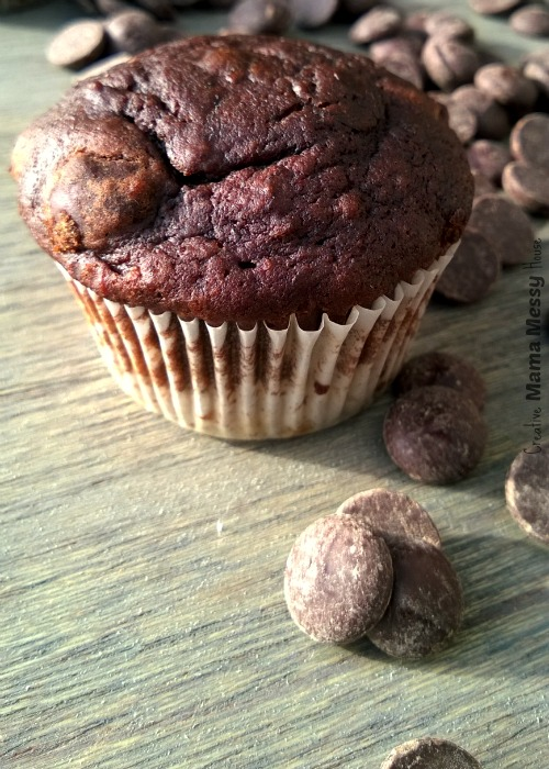 Double Chocolate Banana Muffin recipe: These muffins are loaded with deep, dark chocolate, a perfect pick-me-up.