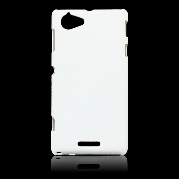 White Hard Back Cover Case Skin Protective For Sony Xperia L S36h NEW
