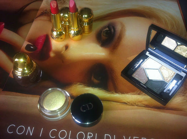 DIOR Natale 2013 Golden Winter Collection make up Diorific lipstick Diorific vernis Diorshow Fusion Mono eyeshadow 5 Couleurs ombretti eyeshadows