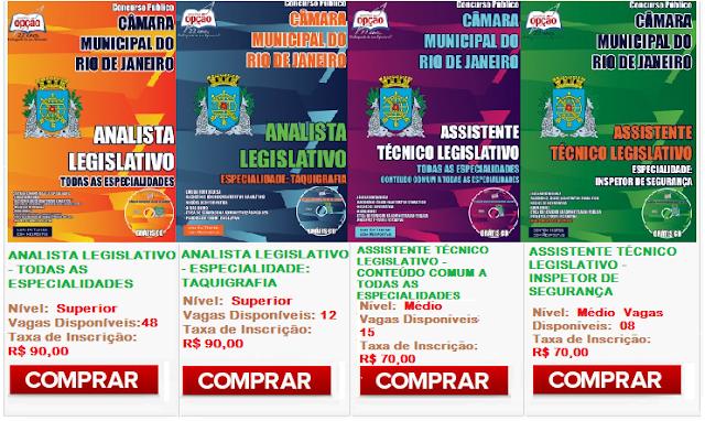 Apostila Câmara Municipal do Rio de Janeiro 2015 Técnico e Analista