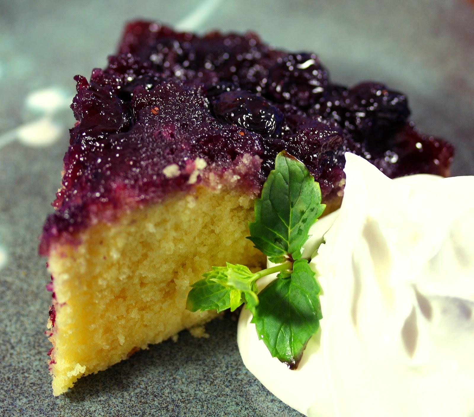 Lemon Blueberry Upside Down Cake From Bon Appetit