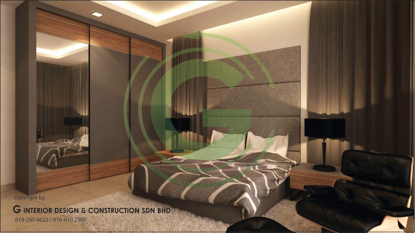 Double story 3d design living hall dining hall master bedroom ampang kl Hallway to master bedroom