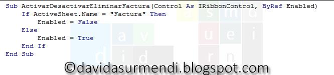 Código completo de la macro que llama getEnabled.
