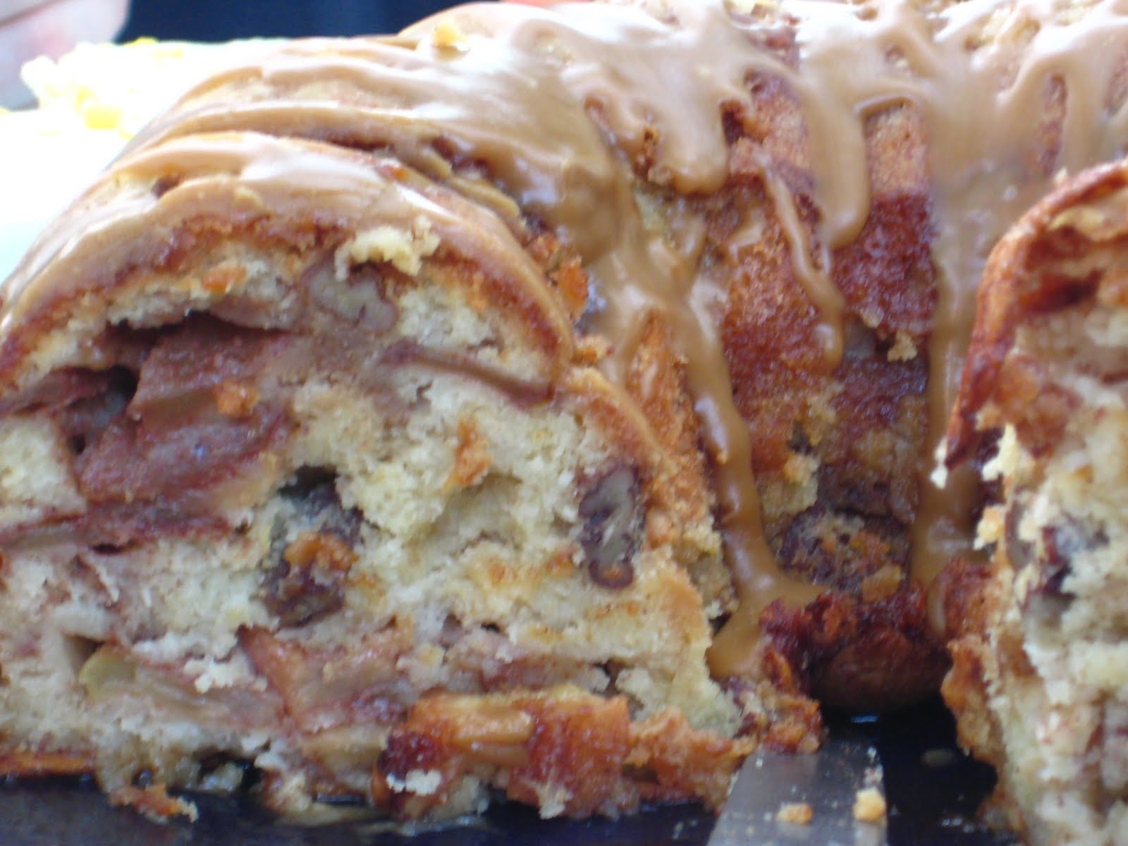 ... Kate of Marsh Mellow Goodness: Cinnamon Apple Cake with Caramel Glaze