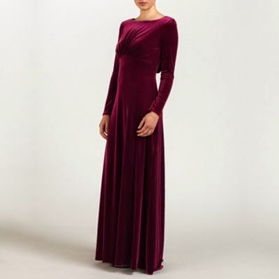 Ariella London Velvet Wine Dress - Affordable Purple Wedding Dresses