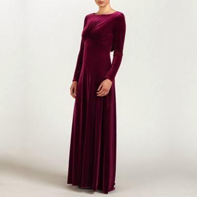 Ariella London Velvet Wine Dress - Affordable Purple Wedding Dresses