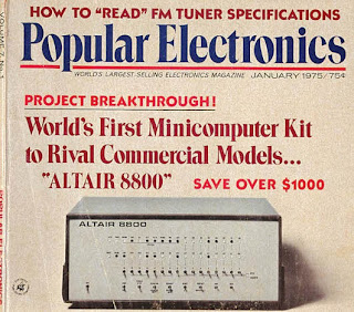 Popular Electronics cover with Altair 8800