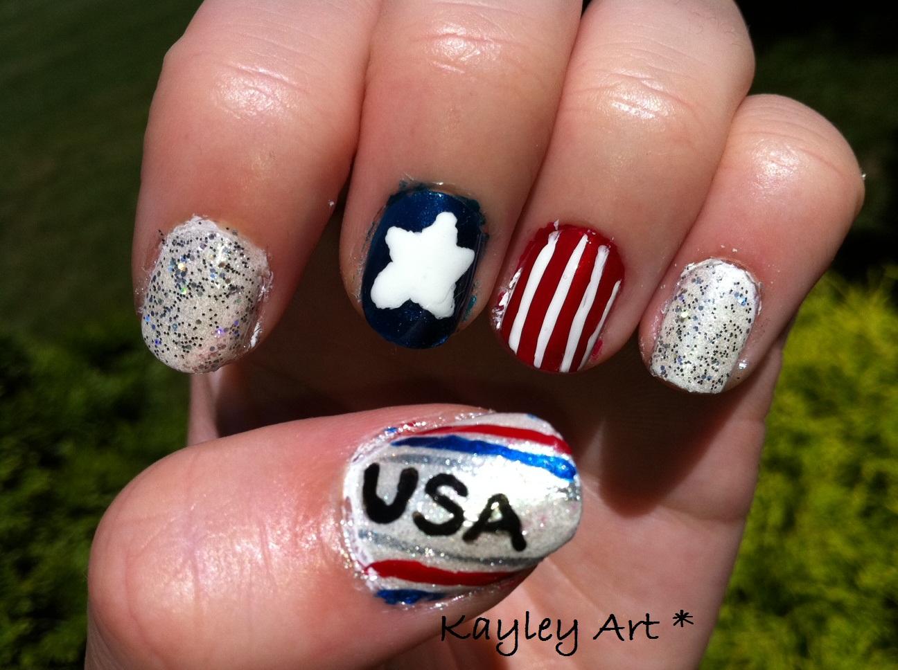 Nail art idea cute 4th july nail art kayleys nail art 4th of july nails solutioingenieria Gallery