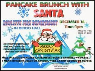 12-14 Pancake Brunch With Santa