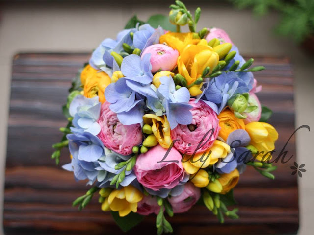 hydrangea bouquet by Lily Sarah